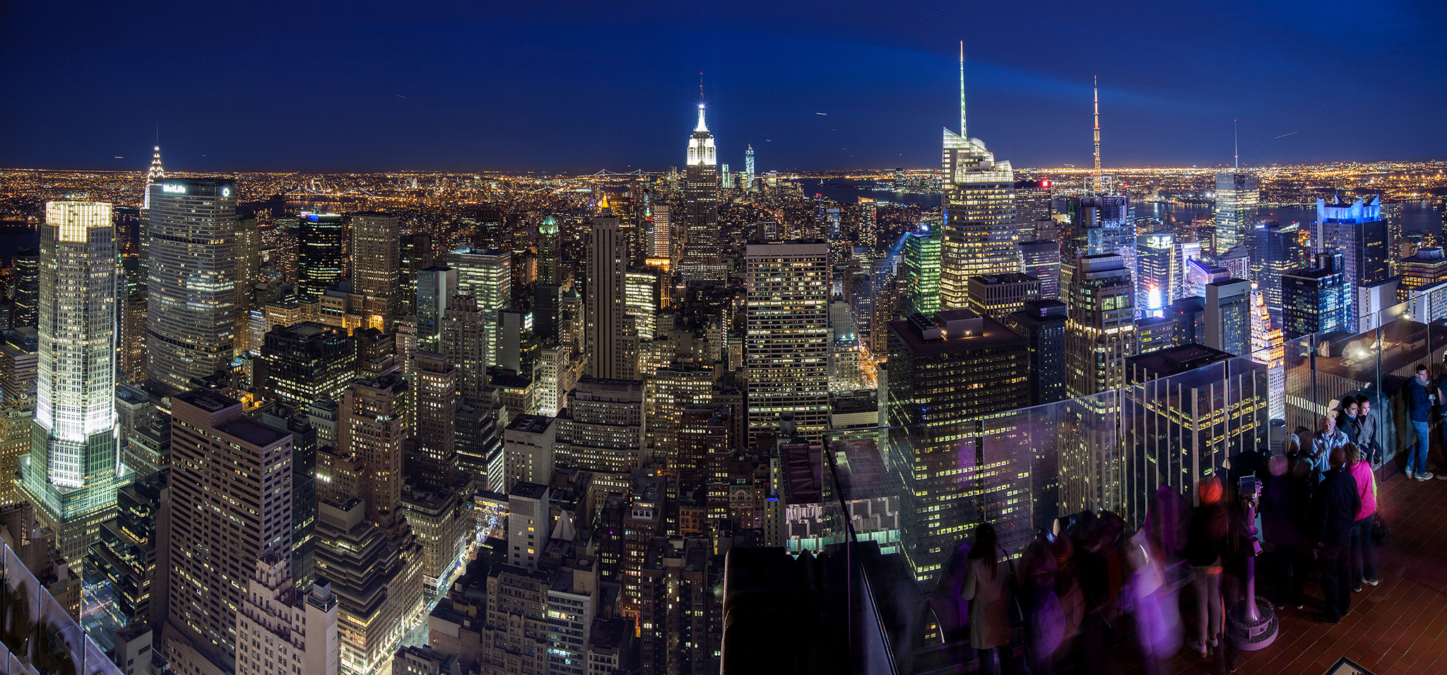 Manhattan after sunset as seen from the Top of the Rock