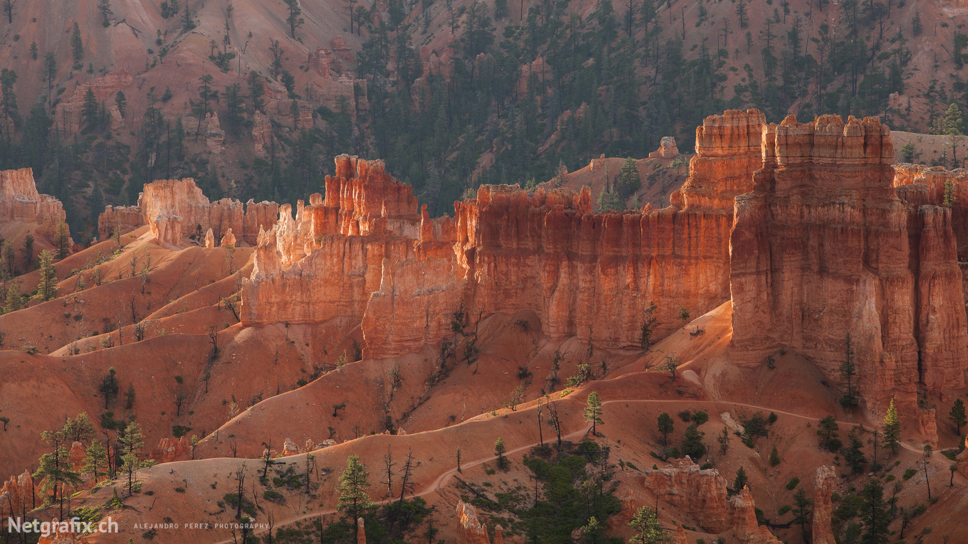 Hoodoos on the Peekaboo Loop Trail
