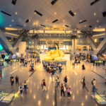 Doha airport main entrance